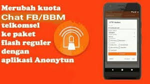 Cara Mengubah Kuota Chat Telkomsel Menjadi Kuota Flash Meggunakan AnonyTun
