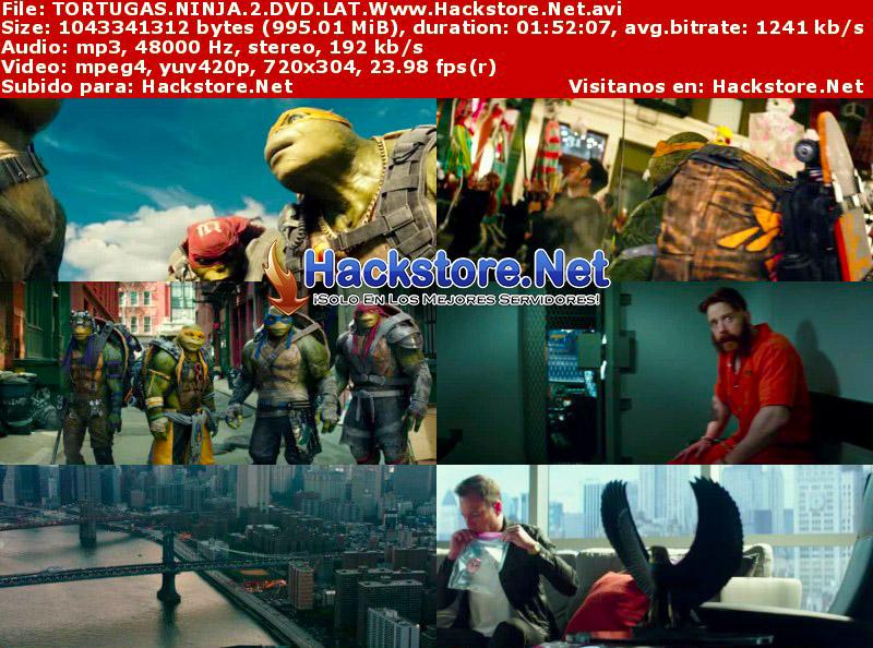 Capturas de Tortugas Ninja 2 (2016) DVDRip Latino