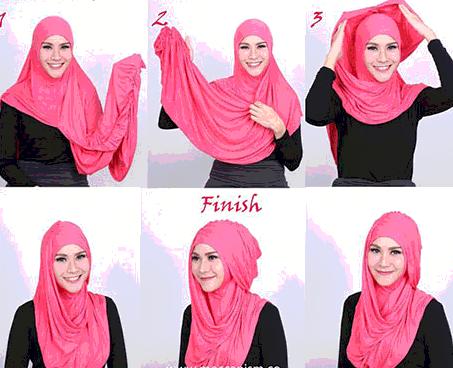 10 Tutorial Hijab Simple Untuk Kuliah 1000 Jilbab Cantik