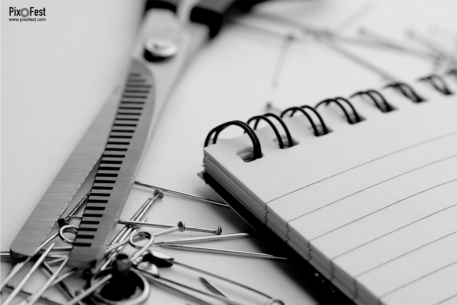 Scissor and notebook, Scissor, notebook,Sisor and notebook,