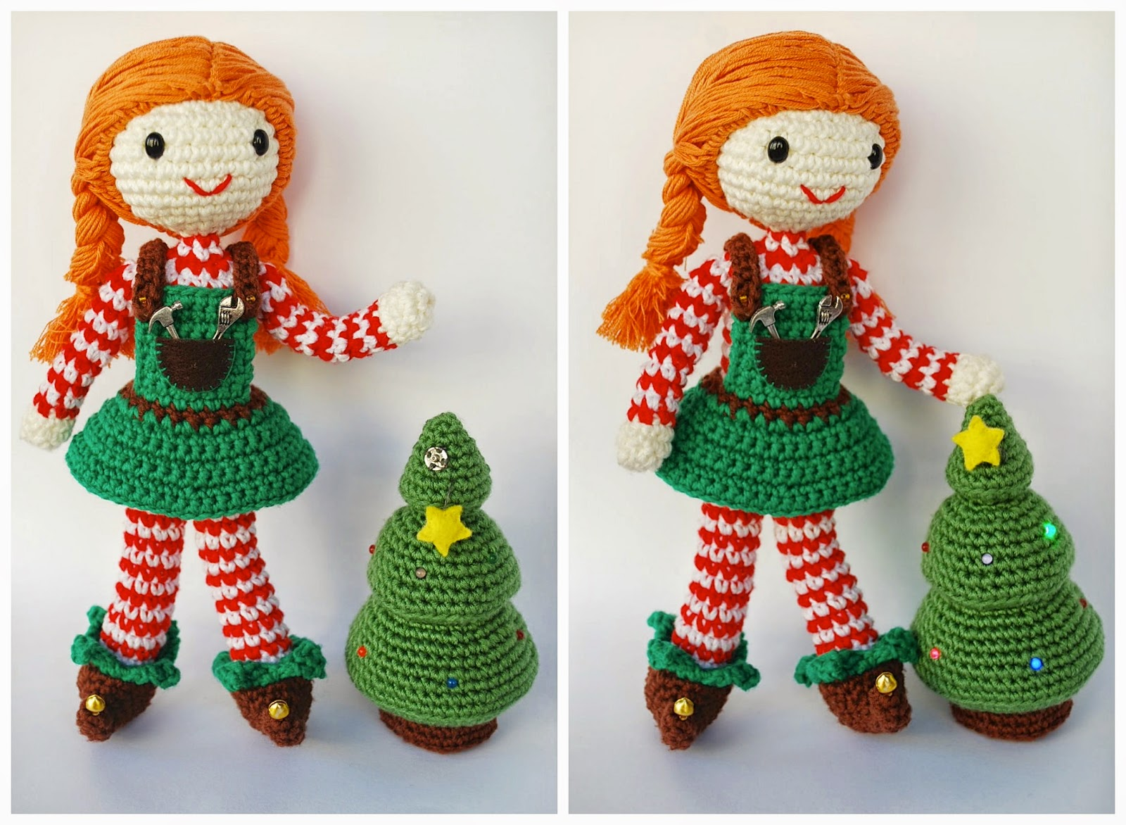 Crochet Christmas Elf and tree