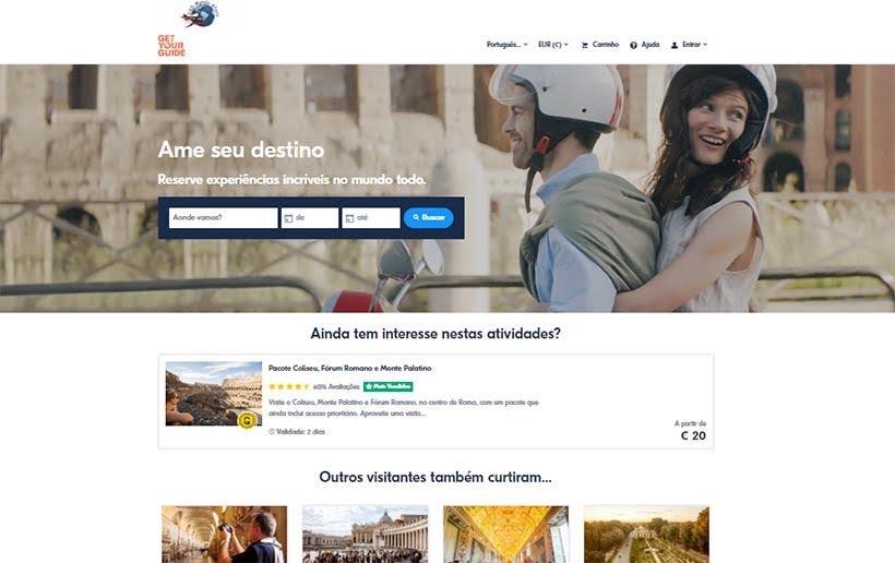 Get Your Guide - Ingressos online: passeio, transfer e tour