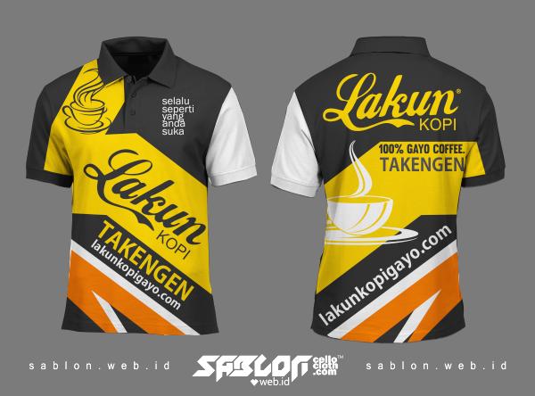 Baju Berkerah Jersey Full Printing Lakun Kopi