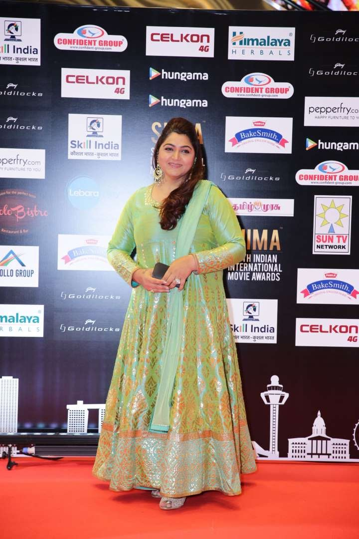 Tamil actress Khushboo was present at SIIMA