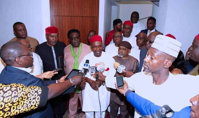 igbo leaders buhari aso rock