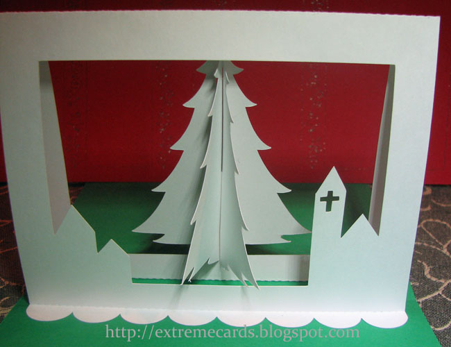 3d Christmas Tree Pop Up Card Tutorial