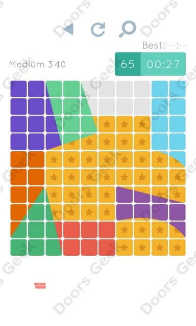 Cheats, Walkthrough for Blocks and Shapes Medium Level 340