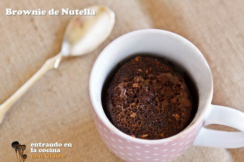Brownie Caliente De Nutella En 3 Minutos