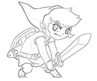 #7 Link Coloring Page