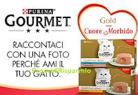 Logo Vinci gratis 10 forniture Gourmet Cuore Morbido per il tuo gatto