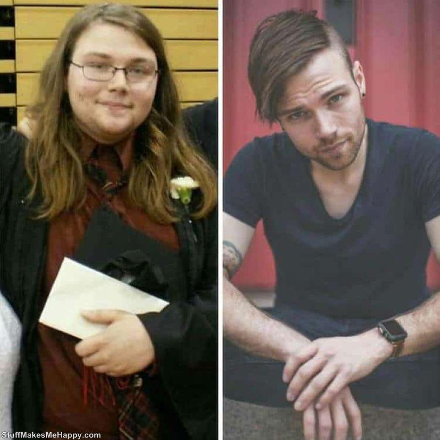 1. has lost 50 kilos in 7 years