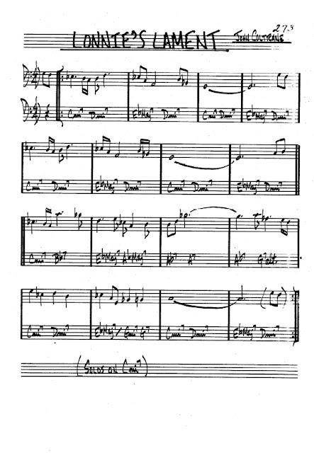 Partitura Bajo John Coltrane