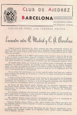 Boletín nº LII del Club Ajedrez Barcelona de enero de 1955