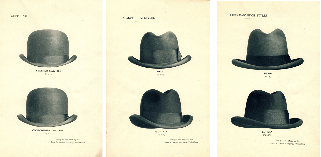 aadb2e02 Stiff derby hats were still the best seller. Stetson had introduced  innovations that expanded the appeal of its line of soft felt hats.