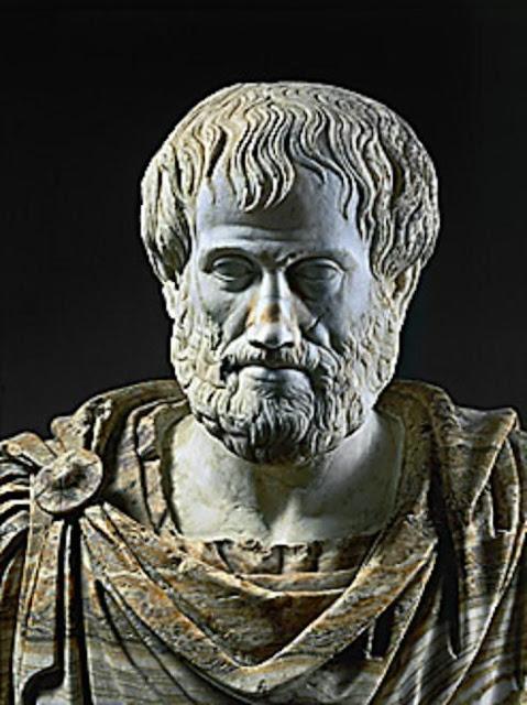 Aristotle, philosopher, teacher of Alexander the Great, (384-332 BCE). Roman marble copy of a Greek bronze. Museo Nazionale Romano, Rome, Italy