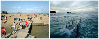 Playa de Perranporth - subida de marea