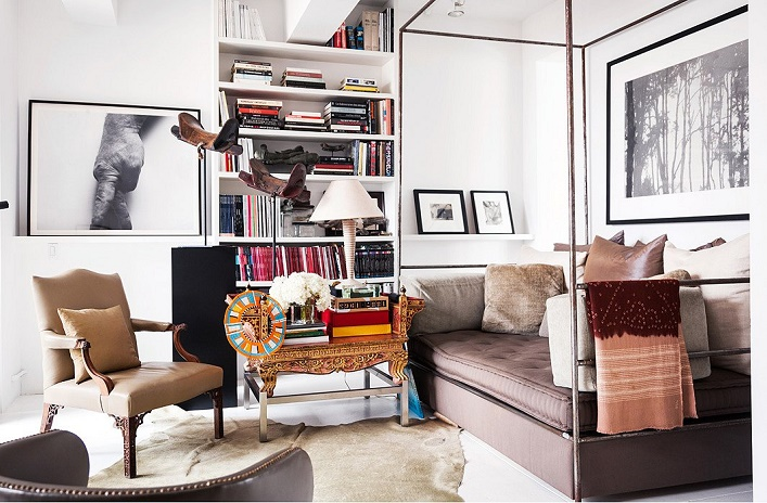 Vincent Wolf Interior Designer: Mix And Chic: Vincent Wolf's Beautiful NYC Loft