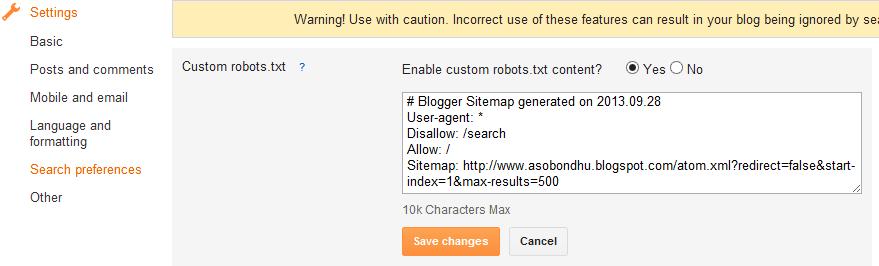 custom robots txt