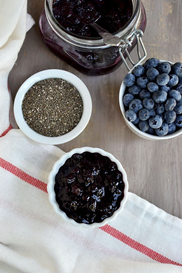 Jam with Blueberries & Chia seeds