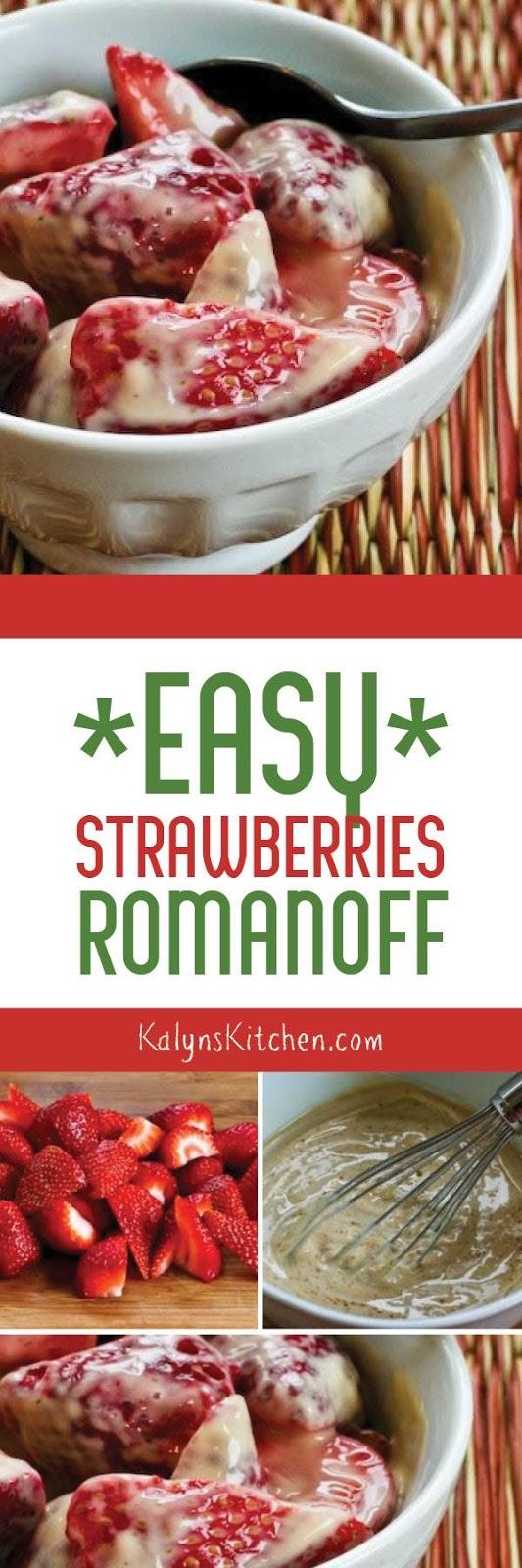 Easy Strawberries Romanoff found on KalynsKitchen.com
