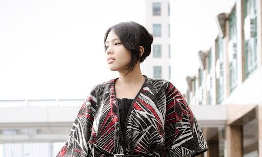 graphic kimono