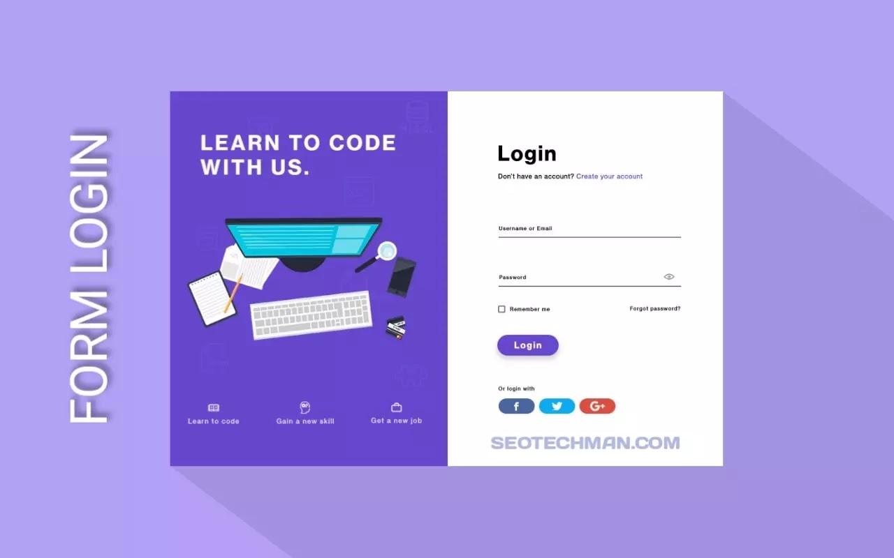 Cara Membuat Form Login yang Menarik dengan Html dan CSS