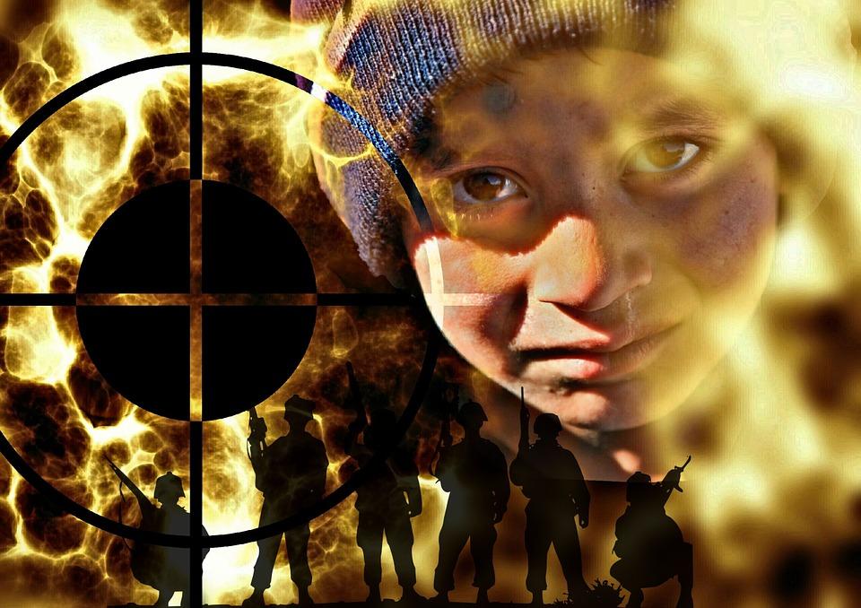 A boy in fear of terrorism