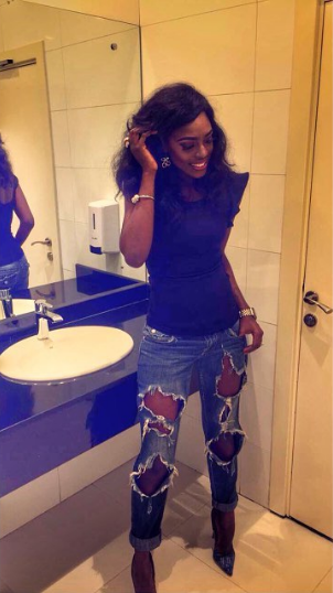 Image result for BBA Star, Beverly Osu Rocks Ripped Jeans In New Photos
