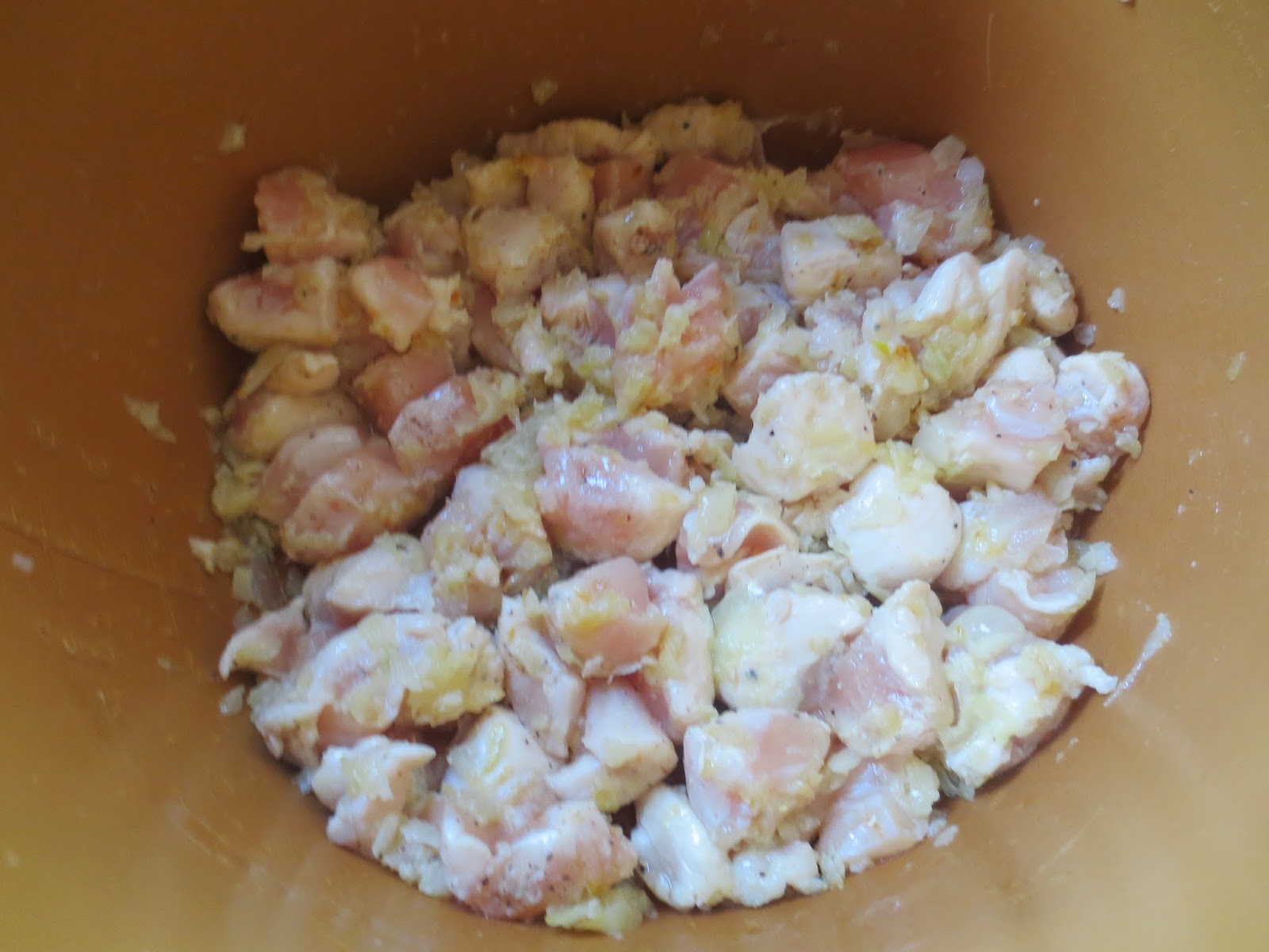 Macarrones con pollo olla GM