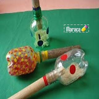 Instrumento musical reciclado : Maracas