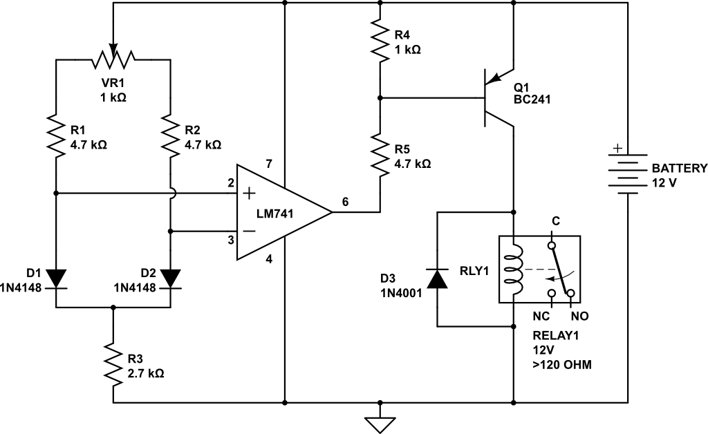The differential Temperature Relay Switch or Balance