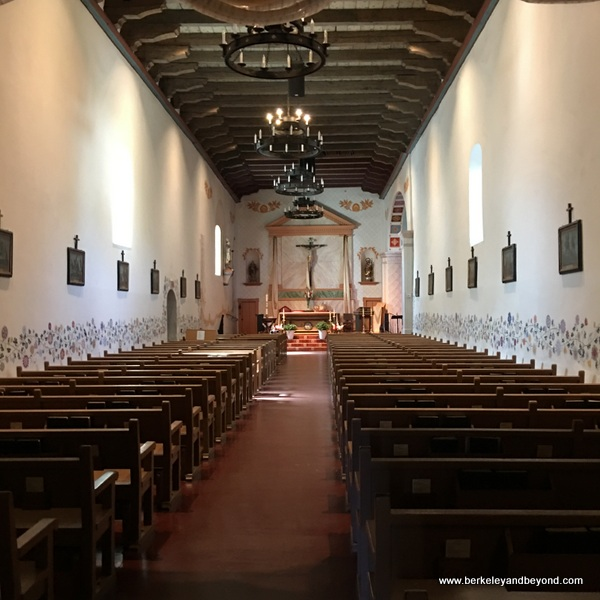 interior of church at Mission San Luis Obispo de Tolosa in San Luis Obispo, California