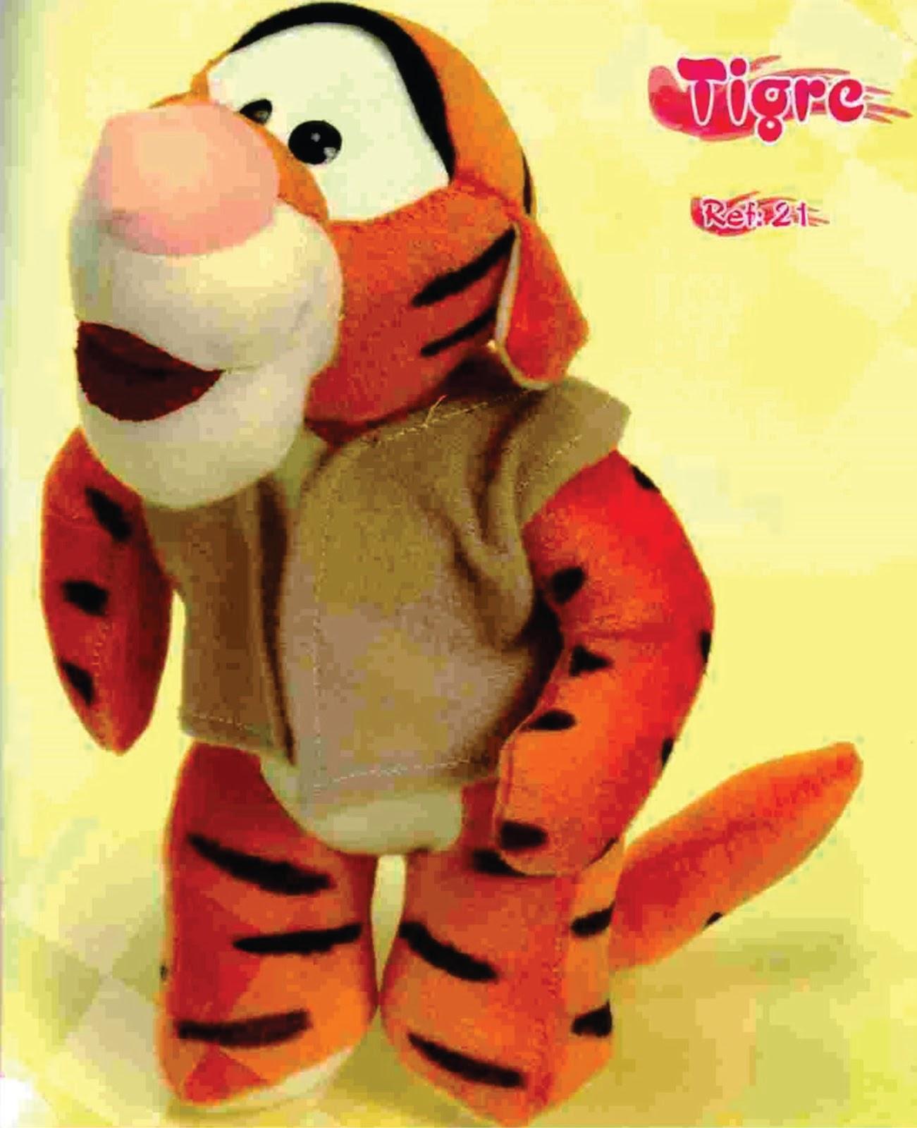 eu amo artesanato tigrão do ursinho pooh com molde