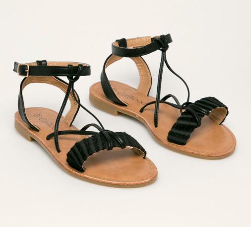 Answear - Sandale negre fara toc de femei pentru vara