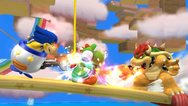 Ludwig Von Koopa fork Yoshi Bowser fire breath flame Super Smash Bros. For Wii U eating Yoshi kebab kabob