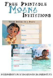 Moana party invitations