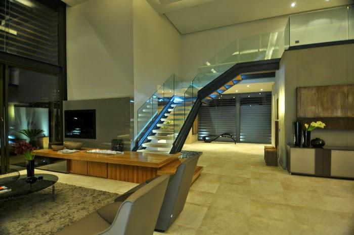 Livings modernos en doble altura new casa minimalista - Casas enterradas ...