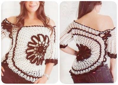 Jersey Crochet con Circulo Instrucciones