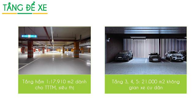 Tầng để xe trên cao tại Eco Green City