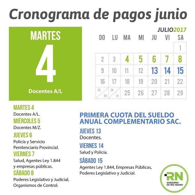 Cronograma de pago de la primera cuota del aguinaldo for Cronograma de pagos ministerio del interior