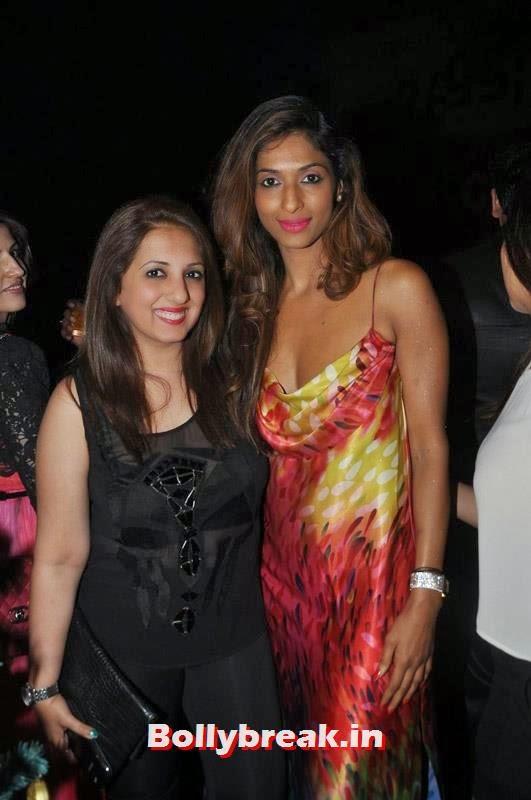 Munisha Khatwani with a guest, Karishma Tanna's Birthday Bash Pics
