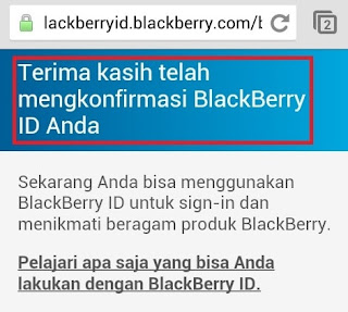 Konfirmasi BBID Di Android Lengkap Berhasil