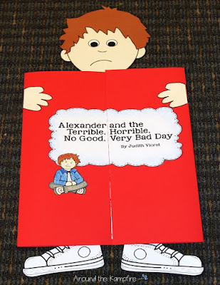 Fun foldable lapbook for Alexander and the Terrible, Horrible, No Good, Very Bad Day