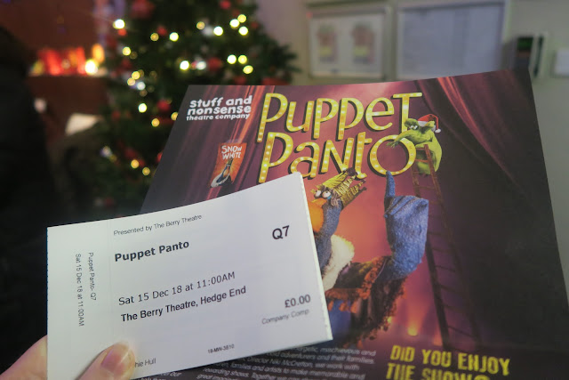 Puppet Panto Ticket and promotional leaflet