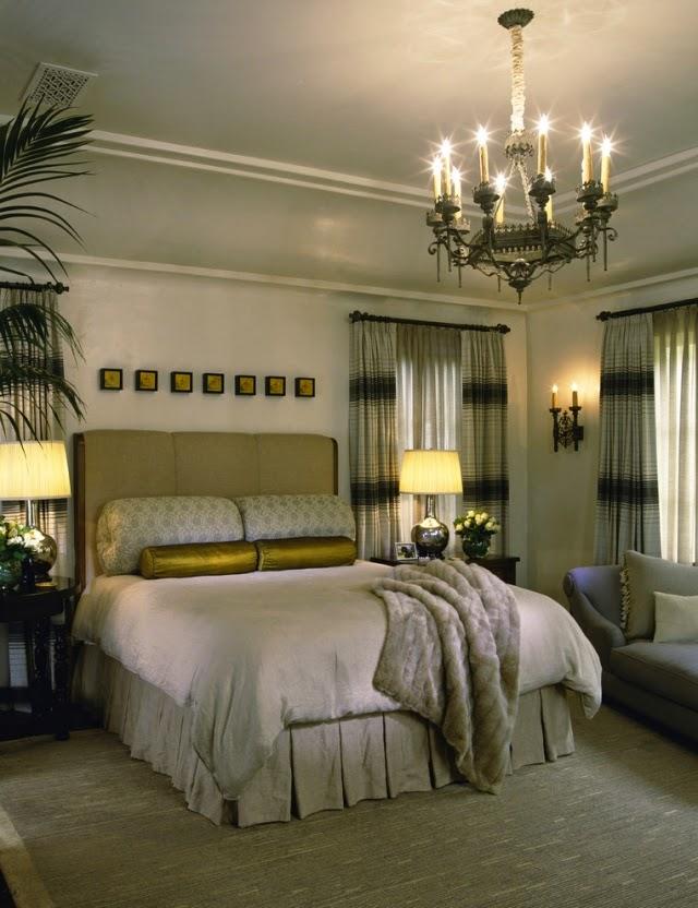 Habitación en dorado plata