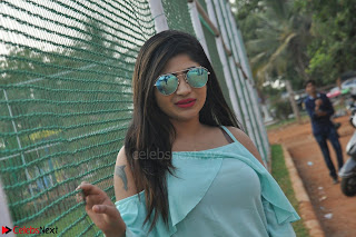 Madhulagna Das looks super cute in White Shorts and Transparent Top 16.JPG
