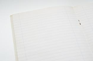 quaderno a righe d'italiano