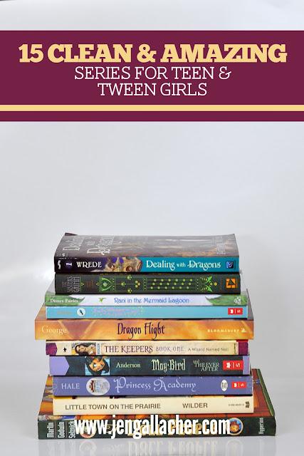 15 Clean & Amazing Book Series for Teen and Tween Girls from www.jengallacher.com. #booklist #teenbooklist #booksforgirls
