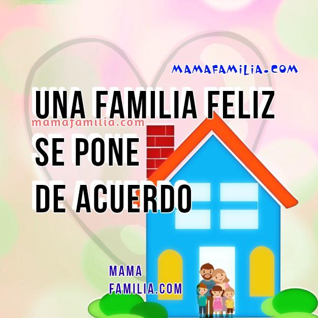 Bonitas frases de familia feliz, imágenes con reflexiones cortas de la familia y cómo es feliz. Mi familia no es perfecta, Tarjetas de familia para facebook por Mery Bracho