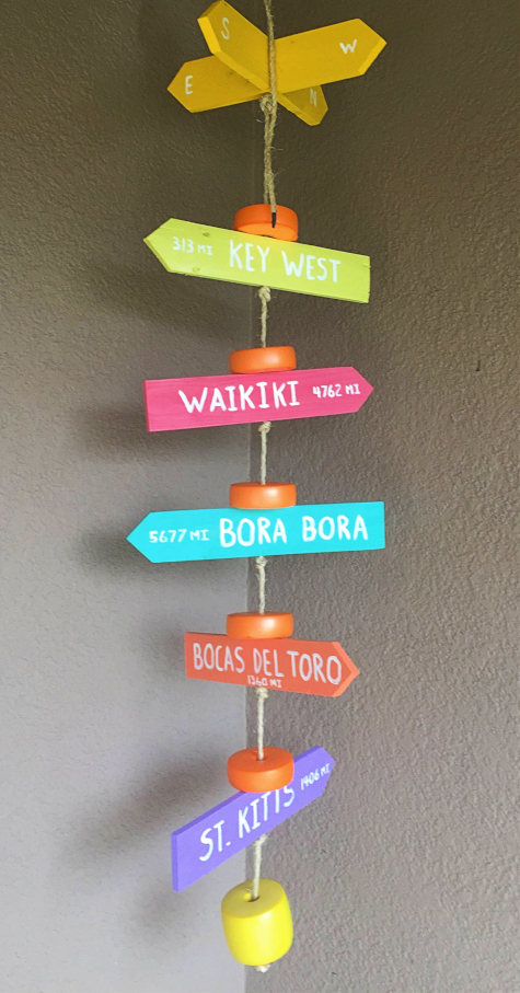 Directional Beach Signs Hanging